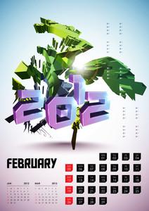Calendar Design 2012 - February