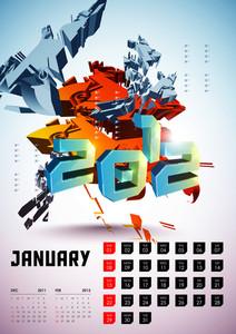 Calendar Design 2012 - January
