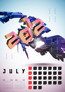 Calendar Design 2012 - July