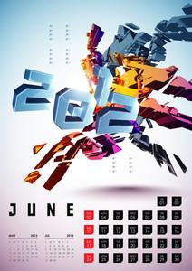 Calendar Design 2012 - June