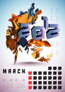 Calendar Design 2012 - March