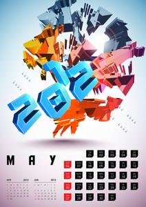 Calendar Design 2012 - May