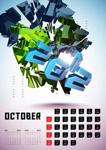 Calendar Design 2012 - October