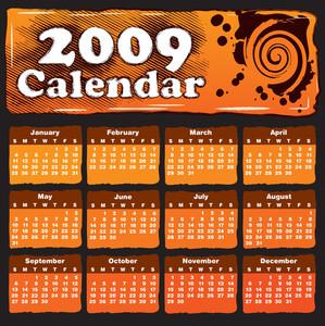 Calendar With A Banner