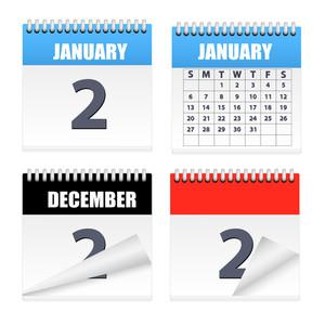 Calendars Icons Vectors
