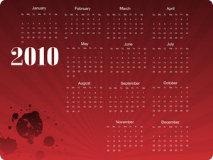 Calender With Grungy Spot