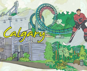 Calgary Doodles Vector Illustration