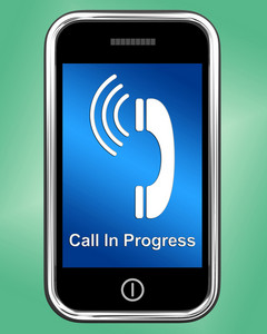 Call In Progress Message On Mobile Phone