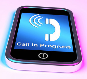 Call In Progress Picture On Mobile Smartphone