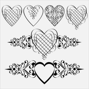 Calligraphic Hearts