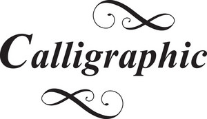 Calligraphic Vector Element
