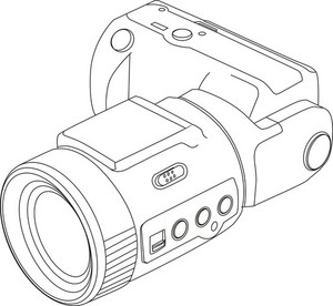 Camera Line Drawing