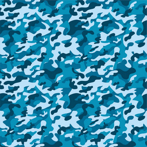 Blue Camouflage Pattern