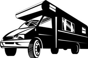 Camper Van Motor Home Retro