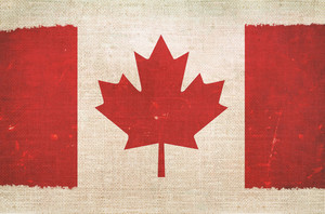 Canada Flag On Canvas