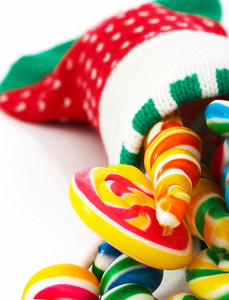 Candies In A Christmas Sock