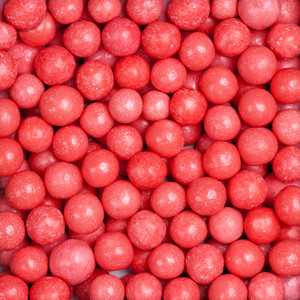 Candies red background