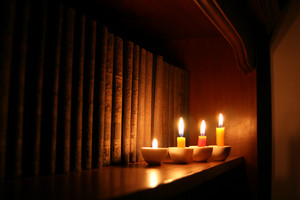 Candles And Library