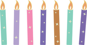 Candles - Christmas Vector Illustration