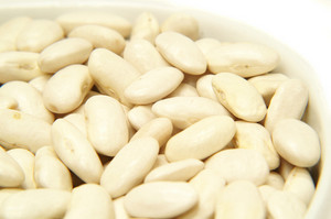 Canellini Beans In White Bowl