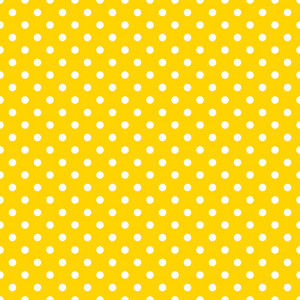 Car Pattern Of White Polka Dots On A Yellow Background