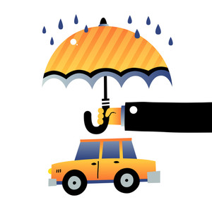 Car Under Umbrella