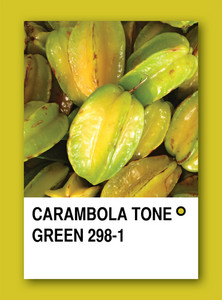 Carambola Tone Green. Color Sample Design