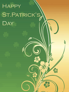 Card For St. Patrick's Day Celebration 17 March