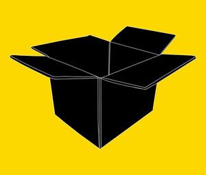 Cardboard Box Silhouette