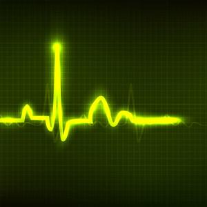 心電圖背景。