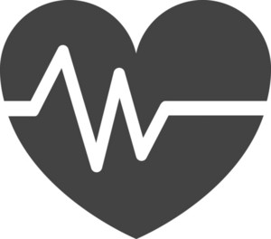 Cardiogram Heart Glyph Icon