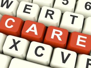 Care Keys Mean Concerned Or Caring