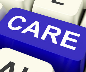 Care Keys Shows Concerned Or Caring