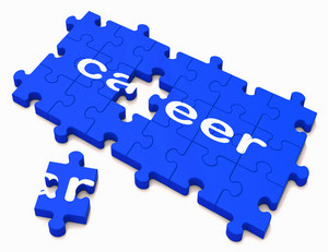 Career Sign Showing Successful Studies