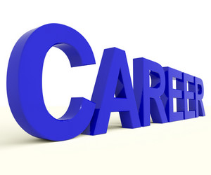 Career Word Representing Job Prospects And Occupation Choices