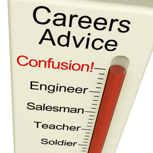 Careers Advice Monitor Confusion Shows Employment Guidance And Decisions