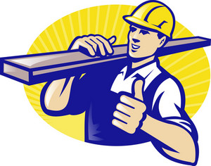 Carpenter Builder Worker Thumbs Up