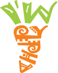 Carrot Contains Two Parts: The Top Made Of Words 'i Am' And The Bottom Made Of Word 'happy'