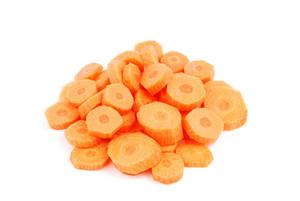 Carrot Slices On White