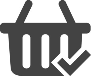 Cart Chek Glyph Icon