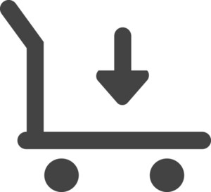 Cart Download Glyph Icon