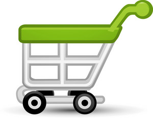 Cart1 Green Lite Ecommerce Icon
