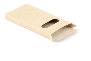 Carton Pencil Case On White