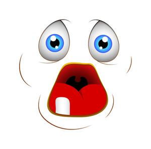 Cartoon Afraid Face