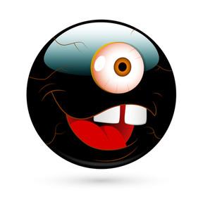 Cartoon Alien Happy Smiley