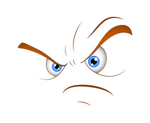 Cartoon Angry Face Vector Expression