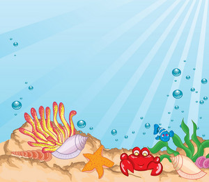 Cartoon Aquarium Vector Illustration