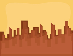 Cartoon Background - Evening City