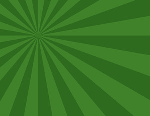 Cartoon Background - Green Sunburst