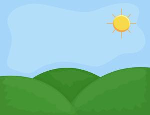 Cartoon Background - Green Valley